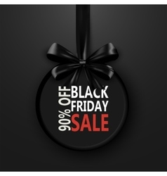 Black Friday banner with bow ribbon design vector image vector image