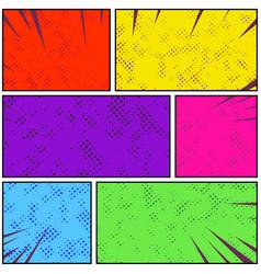 bright colorful retro style pop art comic page vector image