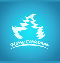 Christmas and new year blue greeting card vector