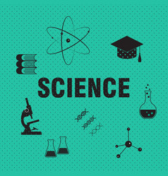 science and chemistry related background vector image
