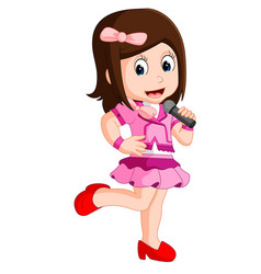 A singing girl vector