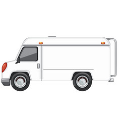 a white van on white background vector image