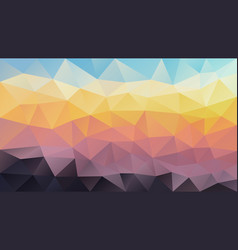 Abstract irregular polygon background sunset vector