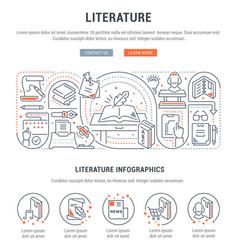 Banner literature vector