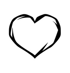 Black heart tattoo symbol vector