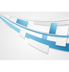 Blue grey motion tech brochure corporate vector