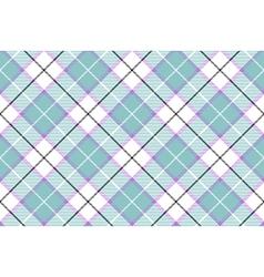 Blue white diagonal tartan plaid baby color vector