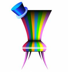 Bright chair vector