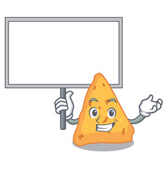 Bring board nachos character cartoon style vector