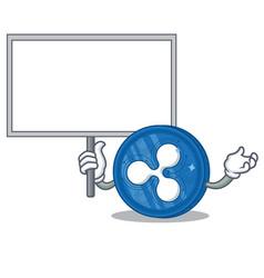 Bring board ripple coin character cartoon vector