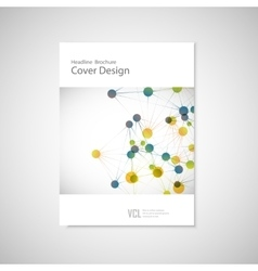 Brochure cover template for connect network vector image