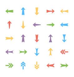 bundle of arrows icons vector image