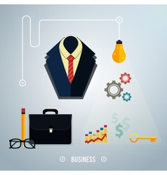 Business concept Tools interier online documents vector
