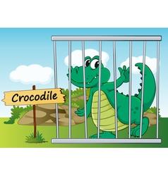 Cartoon Zoo crocodile vector