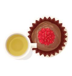 Chocolate souffle icon isometric style vector