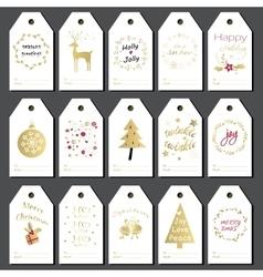 Christmas gift tags set vector