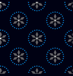 christmas seamless doodle pattern with snowflakes vector image