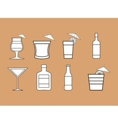 Coktail bar drink vector