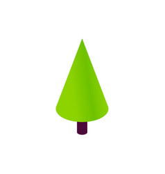 Cone christmas tree isometric object vector