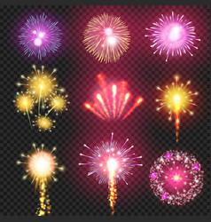 cracker firework on night sky vector image