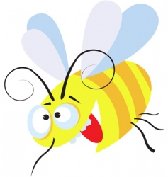 crazy bee vector image