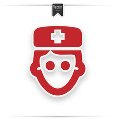 doctor icon isolated on white background vector image