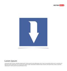 Down arrow icon - blue photo frame vector