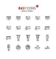easy icons 12a money vector image