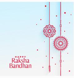 Elegant rakhi wristband background for raksha vector
