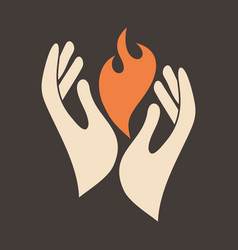 flame of the holy spirit vector image