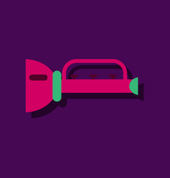 Flat icon design collection children trumpet in vector