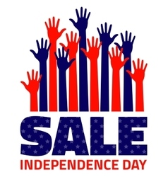 Fourth july American Independence Day Sale vector