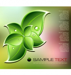 fresh natural concept background vector image