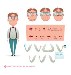 geek character for your scenes vector image vector image