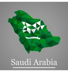 Geometric map of Saudi Arabia vector