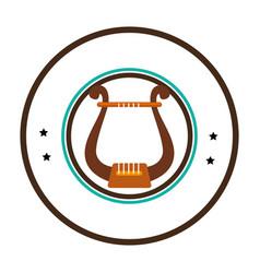 Harp instrument isolated icon vector
