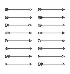 hipster arrows set on white background vector image