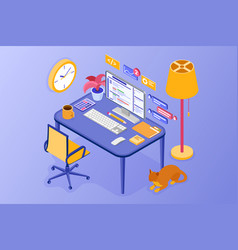 home office work from home vector image
