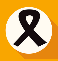 Icon ribbon on white circle with a long shadow vector