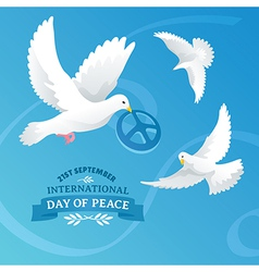 International Day of Peace vector image