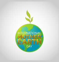 International mother earth day logo icon design vector
