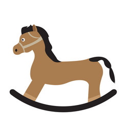 Isolated wooden horse vector