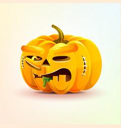 Jack-o-lantern terrible facial expression autumn vector