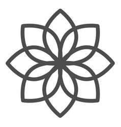 Lotus line icon flower vector