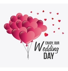 Love card design with red details vector