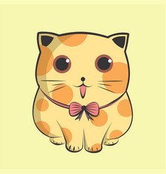 lovely big kitten cute cat vector image
