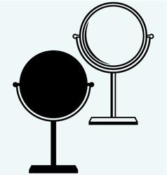 Makeup mirror vector image