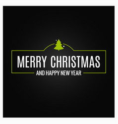 merry christmas event sign on black background vector image