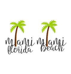 modern calligraphy word miami creative vector image