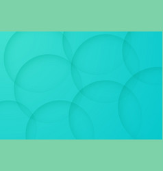 Modern turquoise backgrounds abstract 3d circle vector